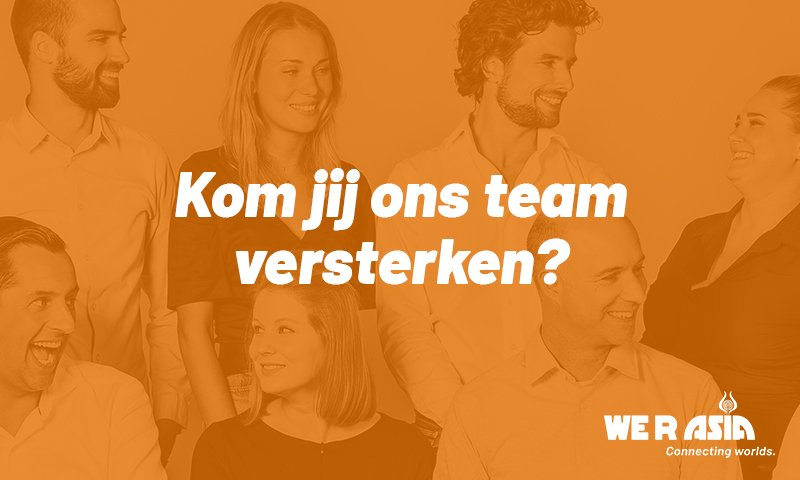 Vacature Junior Projectmanager | We R Asia